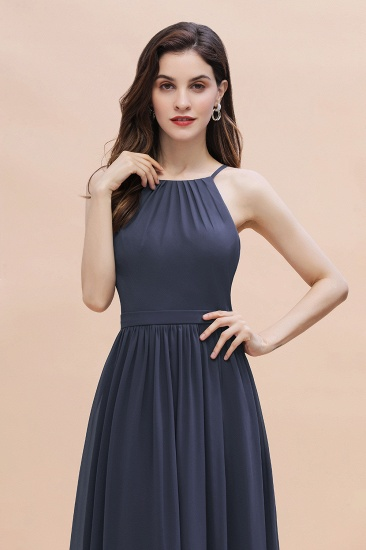 BMbridal Affordable Jewel Sleeveless Stormy Chiffon Bridesmaid Dress with Ruffles Online_8