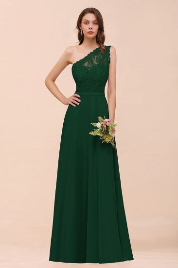 New Arrival Dusty Rose One Shoulder Lace Long Bridesmaid Dress_31