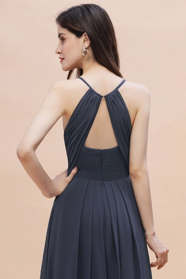 BMbridal Simple Spaghetti Straps Stormy Chiffon Bridesmaid Dress with Ruffles On Sale_9