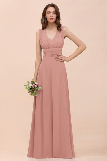 New Arrival Dusty Blue Ruched Long Convertible Bridesmaid Dresses_50