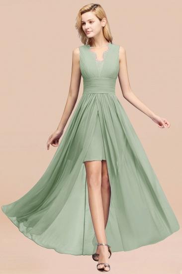 BMbridal Elegant Chiffon Lace Jewel Sleeveless Bridesmaid Dress with Ruffle_41