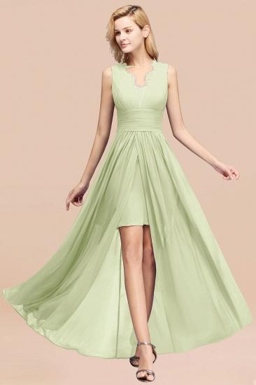 BMbridal Elegant Chiffon Lace Jewel Sleeveless Bridesmaid Dress with Ruffle_35