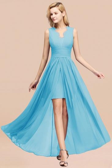 BMbridal Elegant Chiffon Lace Jewel Sleeveless Bridesmaid Dress with Ruffle_24