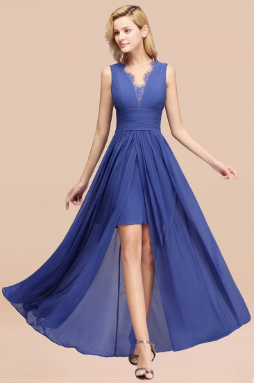 BMbridal Elegant Chiffon Lace Jewel Sleeveless Bridesmaid Dress with Ruffle_26