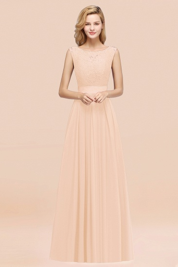 Vintage Sleeveless Lace Bridesmaid Dresses Affordable Chiffon Wedding Party Dress Online_5