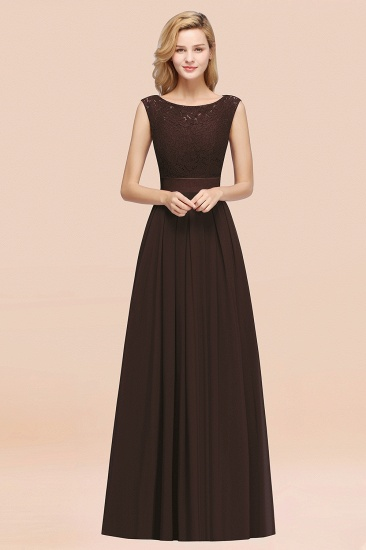 Vintage Sleeveless Lace Bridesmaid Dresses Affordable Chiffon Wedding Party Dress Online_11