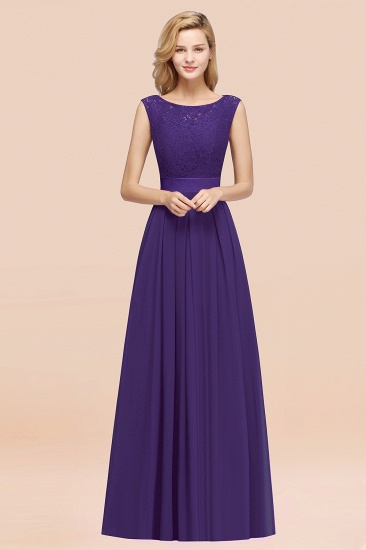 Vintage Sleeveless Lace Bridesmaid Dresses Affordable Chiffon Wedding Party Dress Online_19