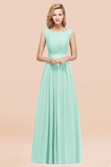 Vintage Sleeveless Lace Bridesmaid Dresses Affordable Chiffon Wedding Party Dress Online_36