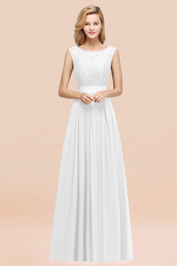Vintage Sleeveless Lace Bridesmaid Dresses Affordable Chiffon Wedding Party Dress Online_1