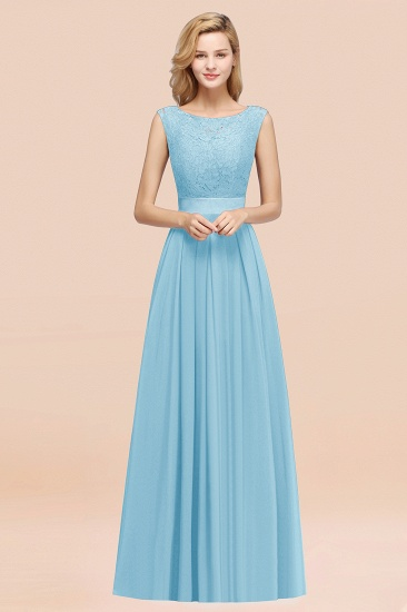 Vintage Sleeveless Lace Bridesmaid Dresses Affordable Chiffon Wedding Party Dress Online_23