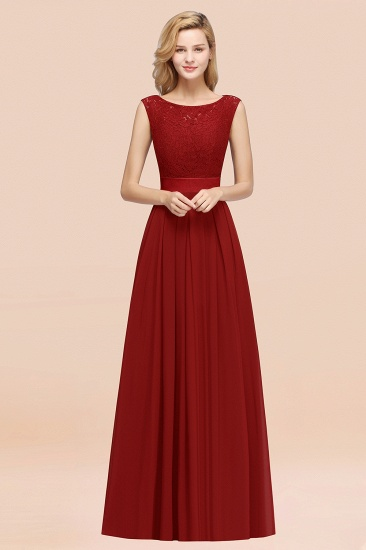 Vintage Sleeveless Lace Bridesmaid Dresses Affordable Chiffon Wedding Party Dress Online_48