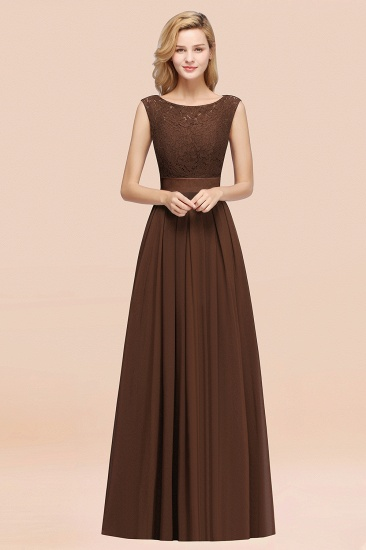 Vintage Sleeveless Lace Bridesmaid Dresses Affordable Chiffon Wedding Party Dress Online_12