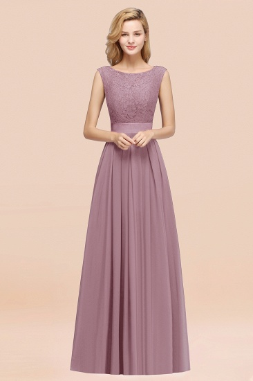 Vintage Sleeveless Lace Bridesmaid Dresses Affordable Chiffon Wedding Party Dress Online_43