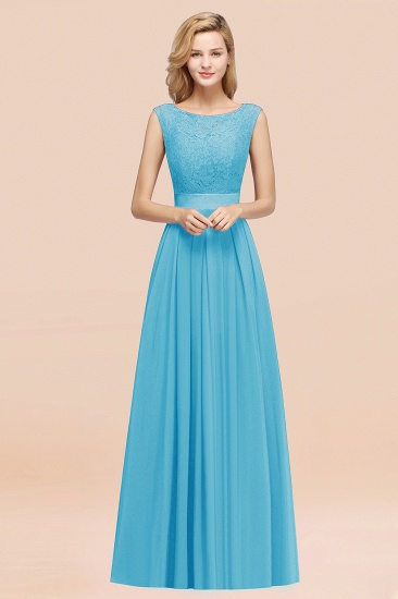 Vintage Sleeveless Lace Bridesmaid Dresses Affordable Chiffon Wedding Party Dress Online_24