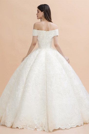 BMbridal Luxury Ball Gown Off-the-Shoulder Sweetheart Wedding Dress Sleeveless Lace Satin Bridal Gowns On Sale_3