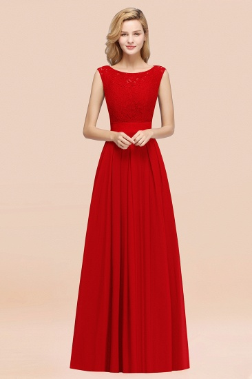Vintage Sleeveless Lace Bridesmaid Dresses Affordable Chiffon Wedding Party Dress Online_8