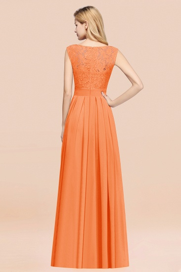 Vintage Sleeveless Lace Bridesmaid Dresses Affordable Chiffon Wedding Party Dress Online_52