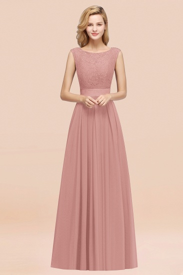 Vintage Sleeveless Lace Bridesmaid Dresses Affordable Chiffon Wedding Party Dress Online_50