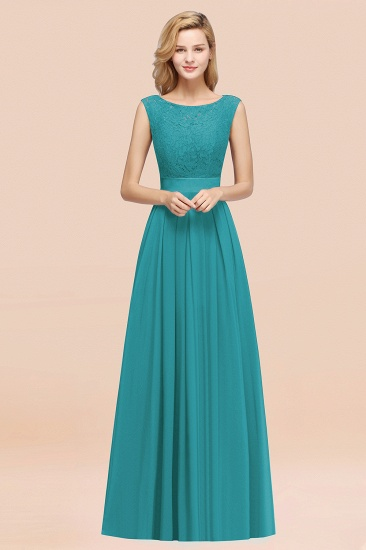 Vintage Sleeveless Lace Bridesmaid Dresses Affordable Chiffon Wedding Party Dress Online_32