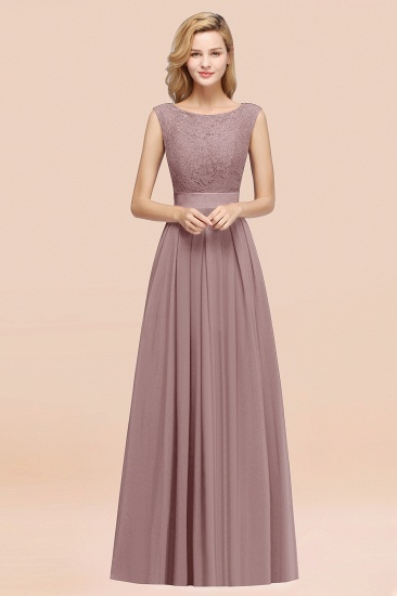 Vintage Sleeveless Lace Bridesmaid Dresses Affordable Chiffon Wedding Party Dress Online_37