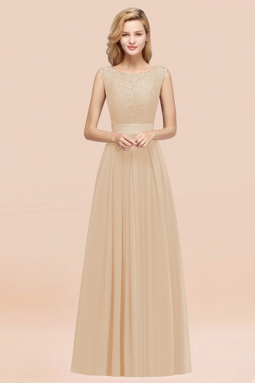 Vintage Sleeveless Lace Bridesmaid Dresses Affordable Chiffon Wedding Party Dress Online_14