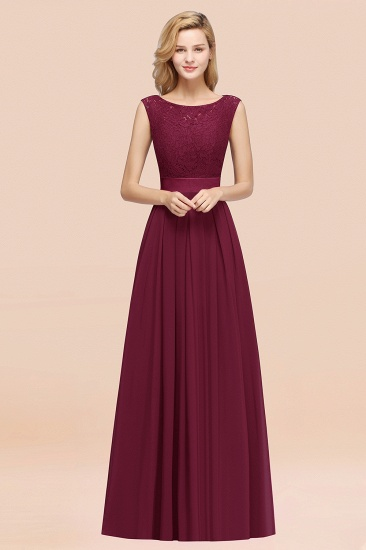 Vintage Sleeveless Lace Bridesmaid Dresses Affordable Chiffon Wedding Party Dress Online_44