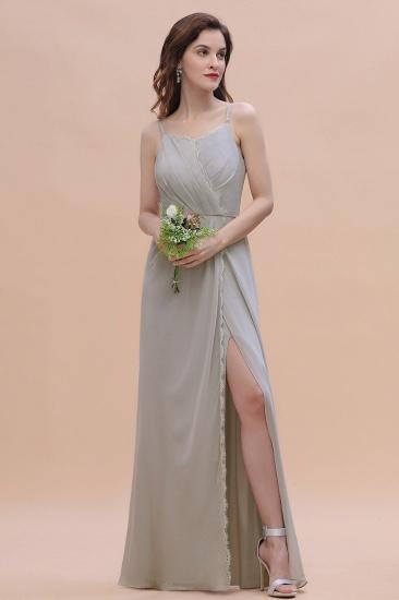 BMbridal Chic Spaghetti Straps Chiffon Lace A-Line Bridesmaid Dress On Sale_4