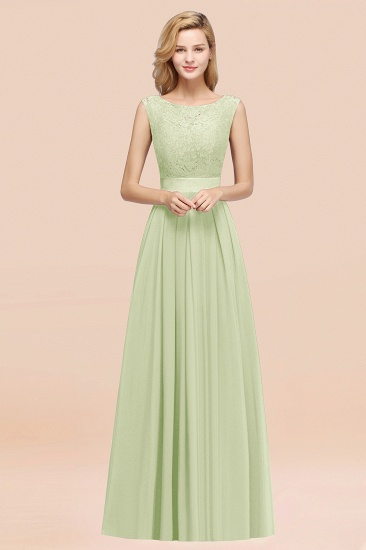 Vintage Sleeveless Lace Bridesmaid Dresses Affordable Chiffon Wedding Party Dress Online_35