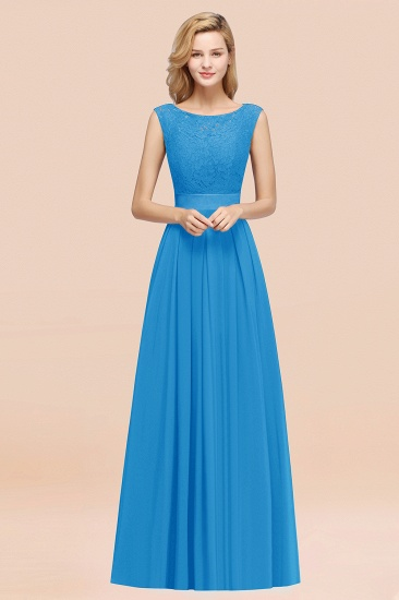 Vintage Sleeveless Lace Bridesmaid Dresses Affordable Chiffon Wedding Party Dress Online_25