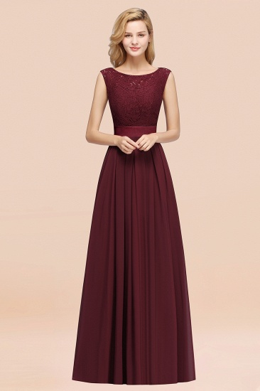 Vintage Sleeveless Lace Bridesmaid Dresses Affordable Chiffon Wedding Party Dress Online_10