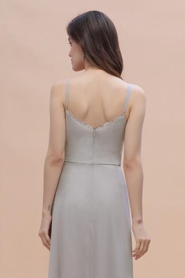 BMbridal Chic Spaghetti Straps Chiffon Lace A-Line Bridesmaid Dress On Sale_9