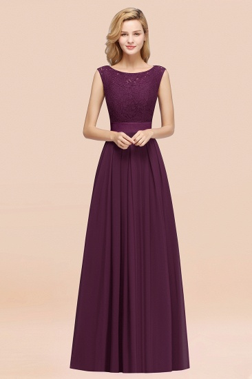 Vintage Sleeveless Lace Bridesmaid Dresses Affordable Chiffon Wedding Party Dress Online_20