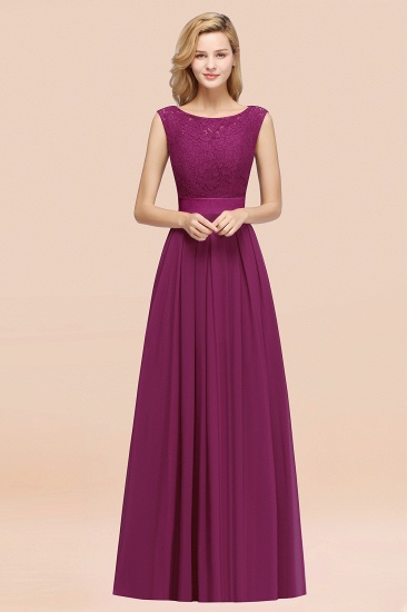 Vintage Sleeveless Lace Bridesmaid Dresses Affordable Chiffon Wedding Party Dress Online_42