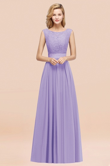 Vintage Sleeveless Lace Bridesmaid Dresses Affordable Chiffon Wedding Party Dress Online_21