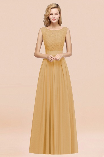 Vintage Sleeveless Lace Bridesmaid Dresses Affordable Chiffon Wedding Party Dress Online_13