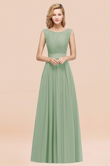 Vintage Sleeveless Lace Bridesmaid Dresses Affordable Chiffon Wedding Party Dress Online_41