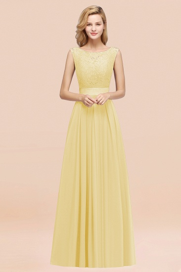 Vintage Sleeveless Lace Bridesmaid Dresses Affordable Chiffon Wedding Party Dress Online_18