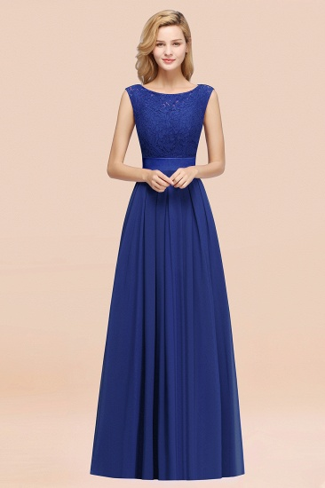 Vintage Sleeveless Lace Bridesmaid Dresses Affordable Chiffon Wedding Party Dress Online_26