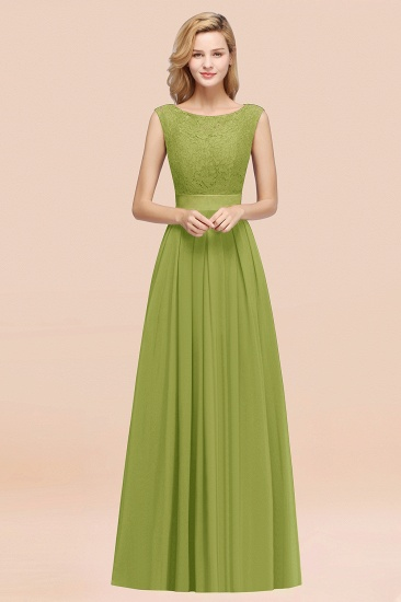 Vintage Sleeveless Lace Bridesmaid Dresses Affordable Chiffon Wedding Party Dress Online_34