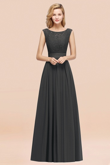Vintage Sleeveless Lace Bridesmaid Dresses Affordable Chiffon Wedding Party Dress Online_46