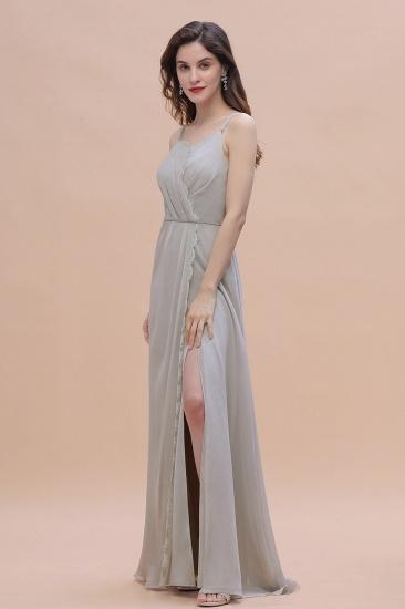 BMbridal Chic Spaghetti Straps Chiffon Lace A-Line Bridesmaid Dress On Sale_7