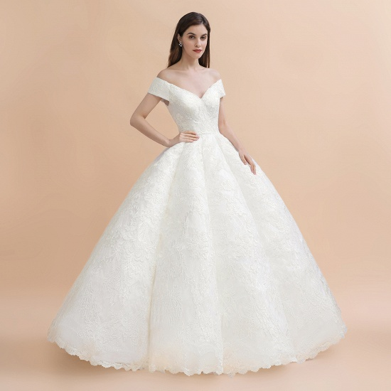 BMbridal Luxury Ball Gown Off-the-Shoulder Sweetheart Wedding Dress Sleeveless Lace Satin Bridal Gowns On Sale_9