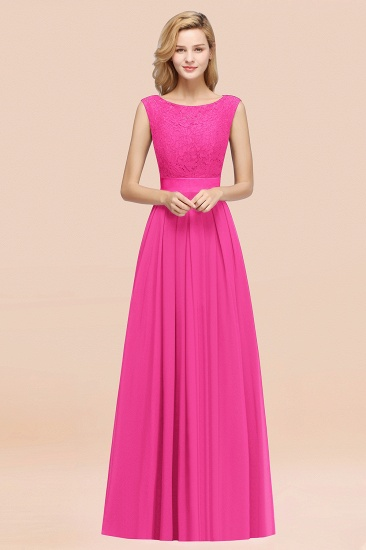 Vintage Sleeveless Lace Bridesmaid Dresses Affordable Chiffon Wedding Party Dress Online_9