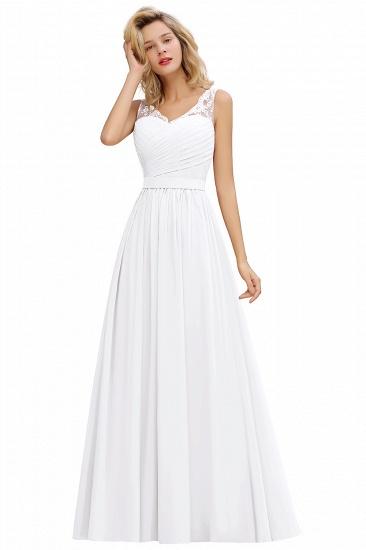BMbridal A-line Chiffon Lace V-Neck Ruffles Bridesmaid Dress_1