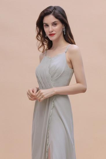 BMbridal Chic Spaghetti Straps Chiffon Lace A-Line Bridesmaid Dress On Sale_10