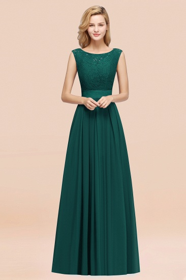 Vintage Sleeveless Lace Bridesmaid Dresses Affordable Chiffon Wedding Party Dress Online_33