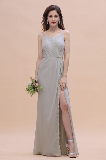 BMbridal Chic Spaghetti Straps Chiffon Lace A-Line Bridesmaid Dress On Sale_5