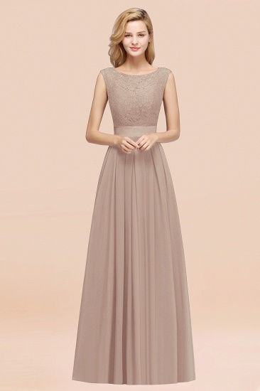 Vintage Sleeveless Lace Bridesmaid Dresses Affordable Chiffon Wedding Party Dress Online_16