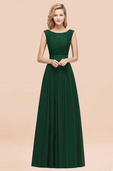 Vintage Sleeveless Lace Bridesmaid Dresses Affordable Chiffon Wedding Party Dress Online_31