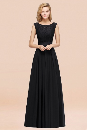 Vintage Sleeveless Lace Bridesmaid Dresses Affordable Chiffon Wedding Party Dress Online_29